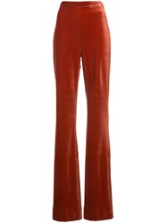 Christian Siriano Wide Leg Trousers Spandex Elastane Polyimide Red