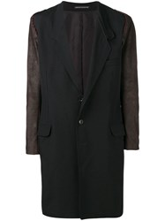Yohji Yamamoto Deconstructed Leather Jacket Black