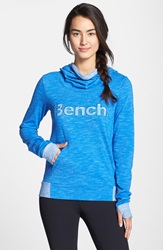 Bench 'Tyree' Drape Neck Hoodie Strong Blue