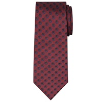 Chester By Chester Barrie Twill Circle Dot Silk Tie Burgundy
