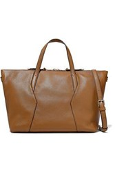 Sandro Yza Pebbled Leather Tote Light Brown
