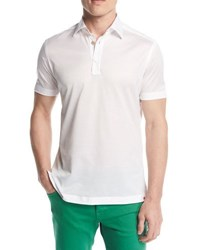 Kiton Classic Cotton Polo Shirt White
