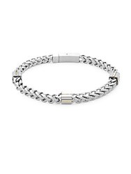Saks Fifth Avenue Stainless Steel Chain Bracelet Silver
