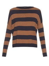 Max Mara Hidesia Sweater Brown Navy