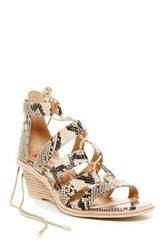 Elaine Turner Designs Zandra Demi Wedge Sandal Beige