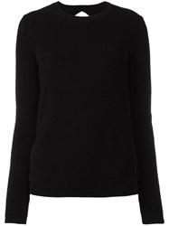 N 21 No21 Sheer Ruffled Back Jumper Black