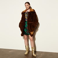 Coach Inside Out Shearling Coat Toffee