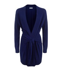Sandro Edith Wool Cashmere Cardigan Female Blue