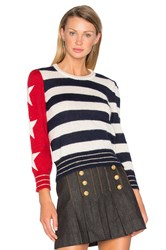 Hilfiger Collection American Icon Long Sleeve Sweater Navy
