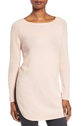 Halogenr Women's Halogen Shirttail Wool And Cashmere Boatneck Tunic