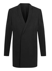 Topman Lux Black Longline Tencel Duster Coat