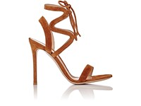 Gianvito Rossi Women's Zigzag Ankle Strap Sandals Brown