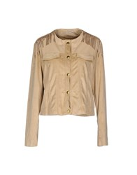 Noshua Coats And Jackets Jackets Women Beige