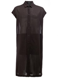 Lost And Found Ria Dunn Long Striped Shirt Black