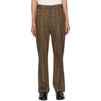 Hope Beige And Blue Check Ric Trousers