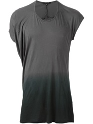 Unconditional Asymmetric Ombre T Shirt Grey