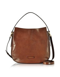 The Bridge Handbags Florentin Brown Leather Shoulder Bag