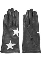 Agnelle Appliqu And Eacuted Leather Gloves Black