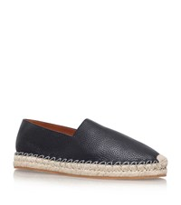 Valentino Pebbled Leather Espadrilles Male Black