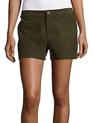 J Brand Mila Lambskin Leather Shorts Camo