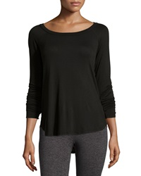 Babakul Open Back Long Sleeve Raglan Tee Black