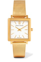 Larsson And Jennings Norse Gold Plated Watch One Size
