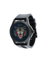 Gucci G Timeless Watch Plastic Stainless Steel Black