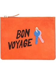 Lizzie Fortunato Jewels 'Bon Voyage' Clutch Yellow Orange