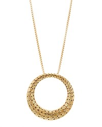 John Hardy 18K Yellow Gold Classic Chain Round Pendant Necklace 36