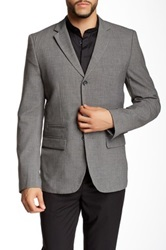 Wd.Ny Solid Suit Separates Blazer Gray