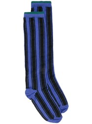Haider Ackermann Striped Socks Blue