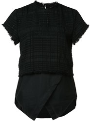 Derek Lam 10 Crosby Layered T Shirt Black