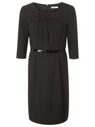 Kaliko Ponte Belted Dress Black