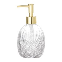 Bloomingville Textured Glass Soap Dispenser Clear Gold