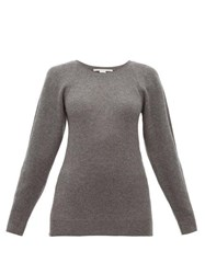 Stella Mccartney Side Zip Wool Sweater Dark Grey