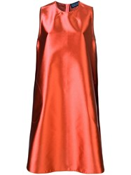 Gianluca Capannolo Sleeveless A Line Dress Orange