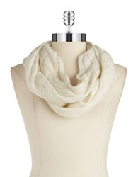 Lord And Taylor Pointelle Cashmere Scarf Ivory