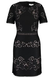 Reiss Tinley Cocktail Dress Party Dress Black Nude Blue