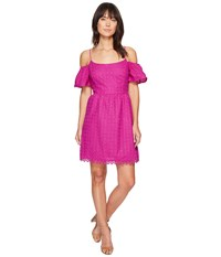 Kensie Eyelet Dots Dress Ks4k7683 Bright Purple Women's Dress