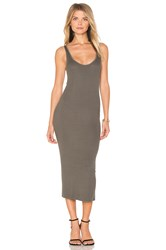 Enza Costa Rib Tank Dress Green