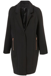 Neoprene Oversized Boyfriend Coat Coats Clothing Topshop