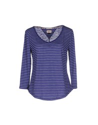 Tommy Hilfiger Denim Topwear T Shirts Women Purple