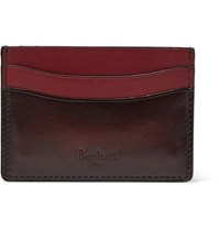 Berluti Bambou Polished Leather Cardholder Red
