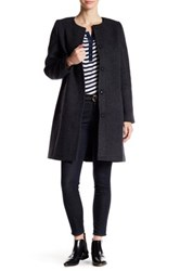 Madewell Long Wool Blend Coat Black