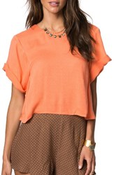 O'neill Women's X Natalie Off Duty Ariya Top Coral