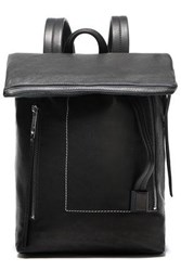 Rick Owens Woman Textured Leather Backpack Black