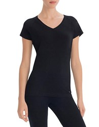Danskin Plus V Neck T Shirt Black