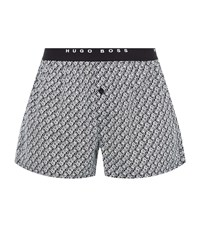 Boss Geo Graphic Boxer Shorts Pack Of 2 Male Grey