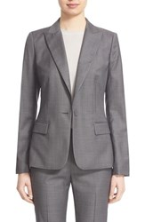 Lafayette 148 New York Women's 'Susan' Modern Fit Suit Blazer Earl Grey Multi