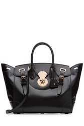 Ralph Lauren Collection The Ultimate Ricky Leather Tote Black